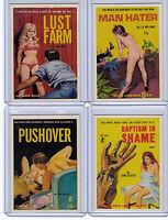 Lot of 4 promo card book marks GGA pulp fiction sleaze dime novels