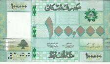 LEBANON 100000 100 000 LIVRES 2018  P 95. UNC CONDITION. 8RW 20JUL