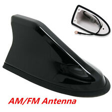 Black Auto Car Roof Strong Radio AM/FM Signal Shark Fin Aerial Antenna Universal