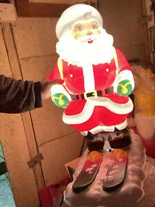 Rare Santa Skiing  Blow Mold