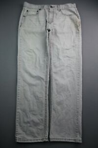 Men's RSQ New York Jeans Slim Straight Gray Size 34x32 (Measure 35x30)