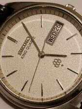 Vintage SEIKO King Twin Quartz All Stainless Mens Watch 9923-7020. Awesome cond.