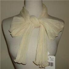 anne klein cream oblong pleated design scarf neck wrap