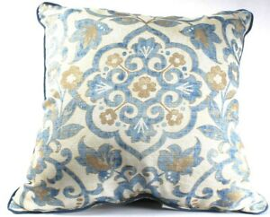 1 Count Croscill Janine 18 X 18 Blue Fashion Pillow Polyester & Cotton