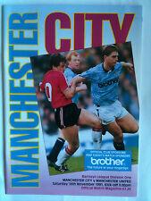 MINT 1991/92 Manchester City v Manchester United 1st Division