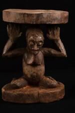 11229 Afrikanische Alte Luba Hocker DR Kongo