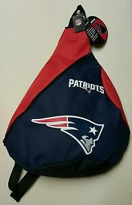 NEW ENGLAND PATRIOTS NFL TEAM LOGOS NAVY / RED 18'' SLING BACKPACK/BAG