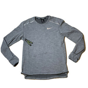 Nike Mens Therma Long Sleeve Running Top Shirt Grey Size Medium BV4707-068