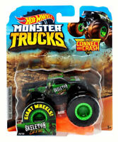 Hot Wheels Monster Truck SKELETON CREW Die-Cast Vehicle Connect & Crash Car 1:64