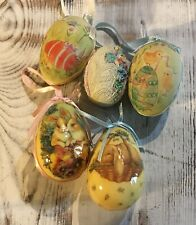Vintage Paper Mache and Decoupage/Resin Easter Eggs