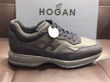 HOGAN uomo Sneaker Interactive camoscio e Tessuto tecnico blu N44 SCONTO 50%