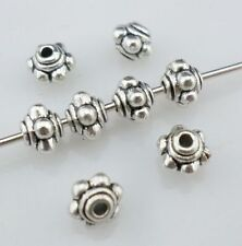 80pcs Tibetan Silver Round Convex concave Spacer Beads fo Jewelry 3.5x5mm