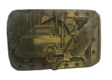 EAST COST WEST COST BELT BUCKLE 1991 C&J INK