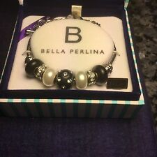 Bella Perlina Classic Gold Plated Black & White Charms