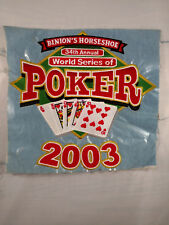 One of a kind embroidery sample for 2003 World Series of Poker at Binion's FB