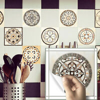 20 PCS 3D ART MOROCCAN TRANSFER SELF-ADHESIVE BATHROOM KITCHEN WALL TILE STICKER