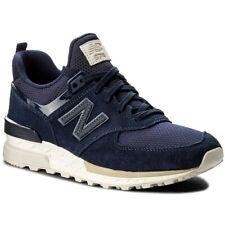 NEW BALANCE MS574FSL Uomo Man Sneakers Blue Blu Navy Lifestyle