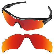 Tintart Polarized Replacement Lenses for-Oakley Radar Path Vented Fire Red (STD)