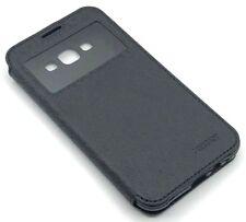 Tasche Flip Cover Case Schutz Hülle Silikon Fenster Mercury HTC One M9 Black