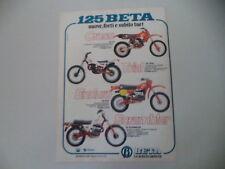 advertising Pubblicità 1981 MOTO BETA 125 CR CROSS/125 TRIAL/RCE/SCRAMBLER