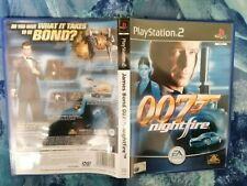 PS2 James Bond 007: Nightfire (Sony PlayStation 2, VGC WITH MANUAL PAL