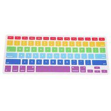 HDE Ultra Thin Silicone Rubber Keyboard Cover Macbook Pro Non Retina Rainbow