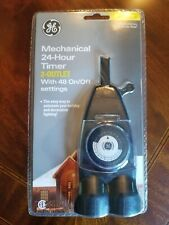 Ge Mechanical 24-Hour Timer 2-Outlet Outdoor w/ 48 On/Off Settings New in Pkg