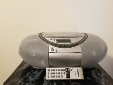 Sony Boombox Cd Radio Cassette Recorder With Remote Cfd-S350 Works