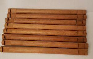 "Lincoln Logs 2 Notch 10 1/2"" Long vintage Brown Lot of 8 logs"