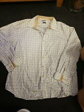 BARBOUR FIELD TATTERSALL RED / OLIVE CHECK LONG SLEEVE COTTON SHIRT SIZE 3XL