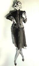 Kenneth Paul Block - Original Fashion Illustration - circa 1982