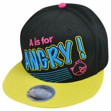 Angry Birds A is For Angry Neon Bioworld Adjustable Snapback Cap Hat New