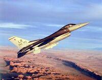 F-16c Falcon Jet Military Aviation Aircraft Wall Decor Art Print Poster (16x20)