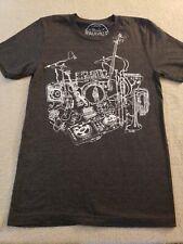 Paulville Guitar Drums Band Gray Small Tshirt