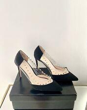 Kurt Geiger Black Perspex Stiletto Heels Size 5 / 38 New Studded Court Shoes
