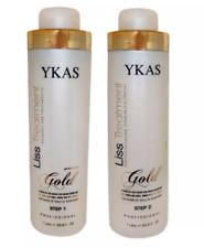 Y-KAS GOLD Progressive Brush 2x1Lt Brazilian Keratin Liss Treatment YKAS