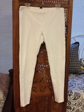 HUE White Cotton Leggings Pants Size Large Washed but Never Worn
