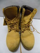 Timberland Womens 7.5 M Boots Brown Nubuck Leather USA Made Lace Up Vintage V