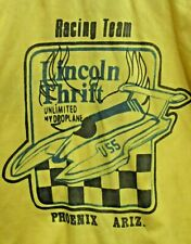1970's LINCOLN THRIFT RACING TEAM Crew Member SHIRT hydroplane boat b1