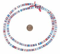 American Medley Vinyl Phono Record Beads 6mm Ghana African Multicolor Heishi