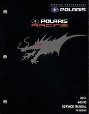 2007 POLARIS RACING 440 IQ SNOWMOBILE SERVICE MANUAL P/N 9920463 (629)
