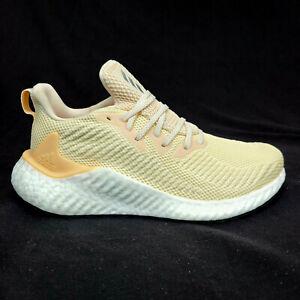 Adidas Womens 8 Mens 7 AlphaBoost Ecru Tint Glow Orange Running Shoes G28565