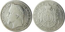 NAPOLEON  III  ,  2  FRANCS  ARGENT  ,  1867  A  PARIS