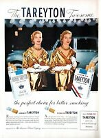 1955 Tareyton Cigarettes Vintage Print Ad The Perfect Choice For Better Smoking