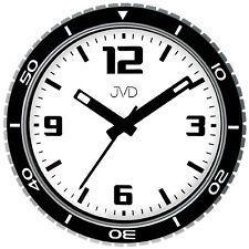 JVD Wanduhr Armbanduhr-Design Quarz analog schwarz rund Ø 29 cm