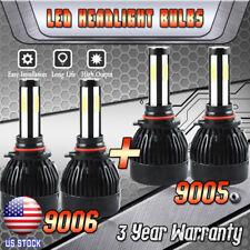 9005 9006 Total 160W 16000LM LED Headlight High Low Beam Combo Kit 6000K White