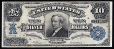 """FR303 $10 """"TOMBSTONE"""" SILVER CERTIFICATE 1908 VERNON / MCCLUNG VF-XF WLM2887"""