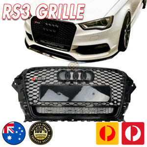 Black Pack RS3 QUATTRO Style Bumper bar Grille Grill for AUDI A3 S3 8V 13-16