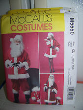 McCall's Pattern # M5550 Santa Clause & Mrs Clause Top Pants Dress Bag SM-LRG
