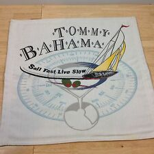 Tommy Bahama Captains Chair Back Insert SAIL FAST LIVE SLOW Pillow Fabric RARE!